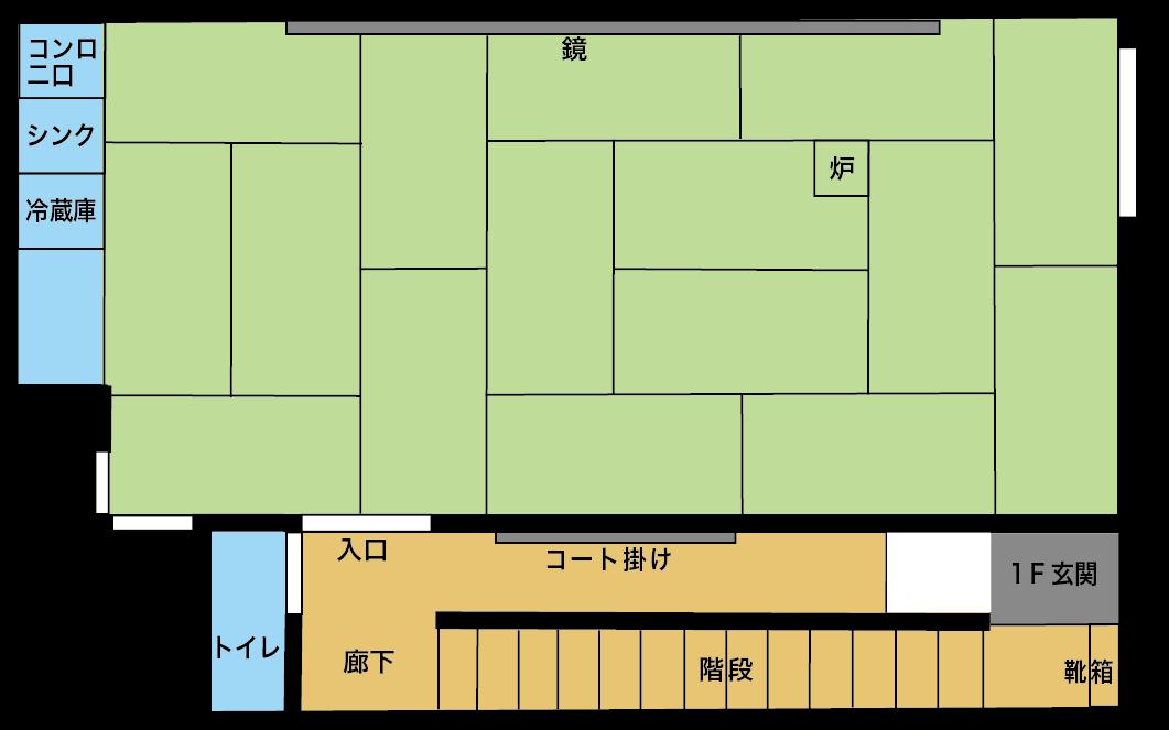 図面 : レンタルルームの図面